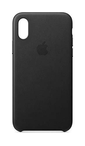 Apple Leder Case (Iphone Xs) - Schwarz Schwarzes Apple Case