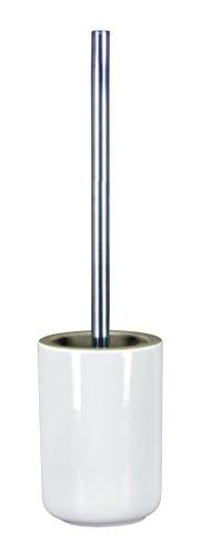 Kleine Wolke 5867977856 Twice WC-Bürstenhalter, Steinzeug, platin, 11 x 11 x 44 - Elf-bürstenhalter Kleine