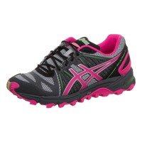 Asics , Damen Laufschuhe blau, Grau - grau / fuchsia / grün - Größe: 40 EU (Asics Womens Shoes Athletic Grau)