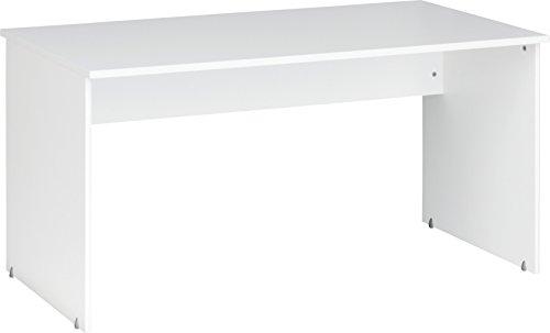 CS Schmalmöbel 12/33 Office-Tisch, Holz, weiß, 150 x 75 x 75 cm Lange Schreibtisch Tisch