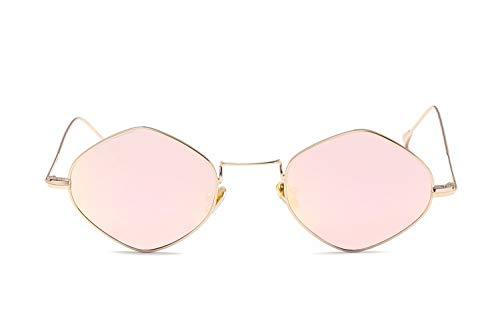 Smile Neue europäische und AmerikaNische multilaterale Mode Retro Bunte Sonnenbrillen Männer und Frauen mit der gleichen allgemeinen Mode Sonnenbrillen flachen Spiegel,NO4