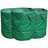 FLORA GUARD Sacchi per i rifiuti da Giardino 3 x 272L - Sacco da Giardino, Sacco per Raccolta Foglie Riutilizzabili