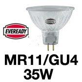 Eveready 5x Dichroic MR11 Halogen Lamp 35W (GU4 Base) 12V 38DEG BEAM