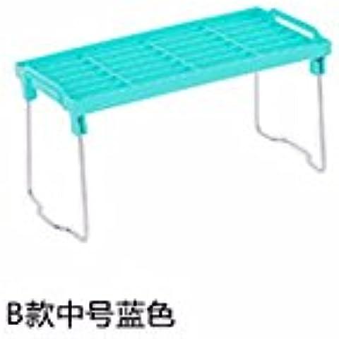 MEICHEN-Cucina bagno wc pieghevole ingombro desktop storage rinforzo imbottito con espandibilità multi-cucina rastrelliere,blu,3