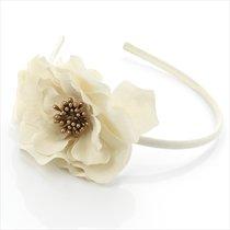Très jolie fleur recouvert Tissu Alice bande Idéal pour mariage Rose ou crème