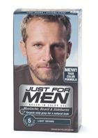 Just For Men Brush-In Color Mustache & Beard, Light Brown