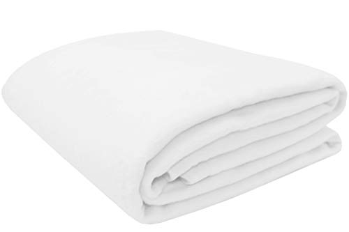 ZOLLNER Manta para Cama 90, Blanca, 60% algodón, Medidas