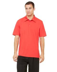 Unisex Performance Three-Button Mesh Polo SPORT RED L (Birdseye-performance-polo Red)
