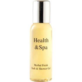 Lot de 50 mini bouteilles gel moussant bain et douche Senteur aux herbes Santé & Spa Capacité 35 ml