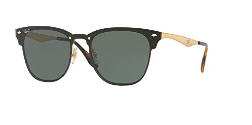 Ray-Ban RB3576N BLAZE CLUBMASTER 043/71 47M Brushed Gold/Dark Green Sunglasses