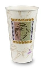 Dixie Hot Cups, Paper, 16oz, Coffee Dreams Design, 50/Pack by Dixie