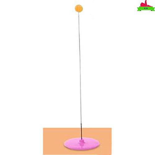 WUNH Tischtennistrainer Trainingsausrüstung Kit Elastic Soft Shaft Ping Pong Balls Paddel Für Anfänger Kinder Kinder Erwachsene,Pink