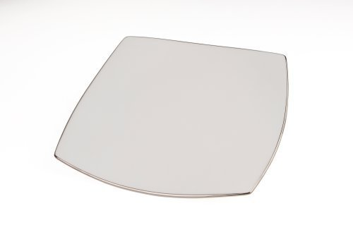 Mikasa Couture Platinum Square Salad Plate by Mikasa Mikasa-square Plate