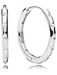 Pandora Women Silver Hoop Earrings - 296244CZ