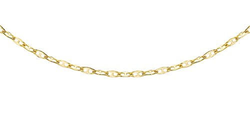 Carissima Gold Damen 9k (375) Gelbgold Flach Rambo Kette