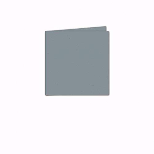 Faltkarte/Doppelkarte - Greenline Pastell Misty Blue / 100 Stück/Quadratisch 155 x 155 mm