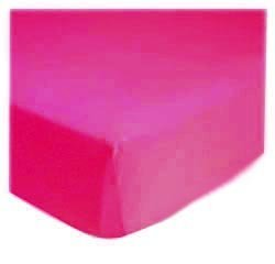sheetworld Fitted Pack N Play (Graco) Sheet – Hot Pink Jersey Knit – Solid Colors by sheetworld