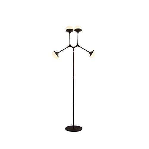 FAKER Lámpara de pie LED Ajustable con Forma de Bola de Vidrio,...