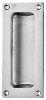 Ironmongery World® Massivem Messing Flush Einbauleuchte Schiebetür Rundum Pull Griff (Silber) (Schiebetür Pull Flush)