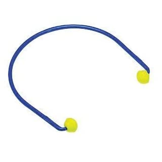 3M E-A-R Caps Blue And Yellow ABS And Polyurethane Model 200 Under Chin Banded Earplugs by 3M