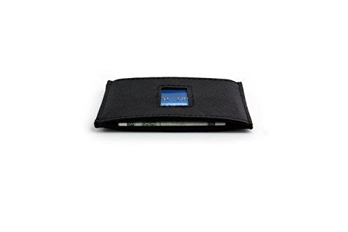 DASH-RFID-Safe-40-Slim-Wallet-Herren-Geldbrse-Portmonee-Kunstleder-Vegan-Kickstarter-Wallet-Kompakte-Geldbrse-schwarz-Karten-Etui