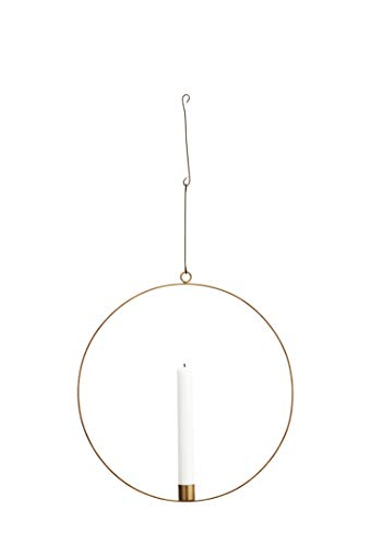 Madam Stoltz Metallring Kerzenhalter in Kupfer für eine Stilkerzen mit Einem Durchmesser von 40cm