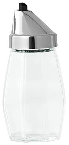 Fackelmann Allesgießer JADE, Milchgießer aus Glas, Ölspender für tropffreies Ausgießen (Farbe: Silber/Transparent), Menge: 1 Stück