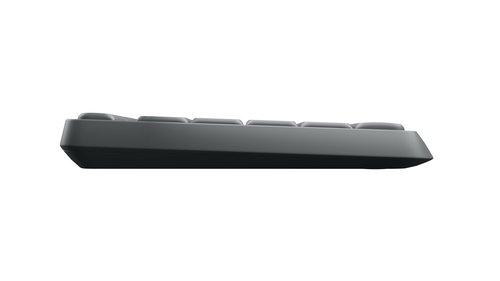 Logitech MK235 Wireless Tastatur mit Maus Combo (QWERTZ, deutsches Tastaturlayout) Anthrazit