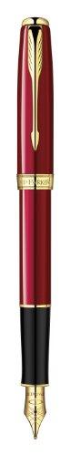 Parker 1859460 Füllfederhalter (Sonnet-Kollektion, StrichstärkeM) rot