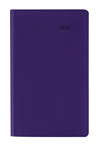Taschenplaner, Leporello, PVC lila 2019