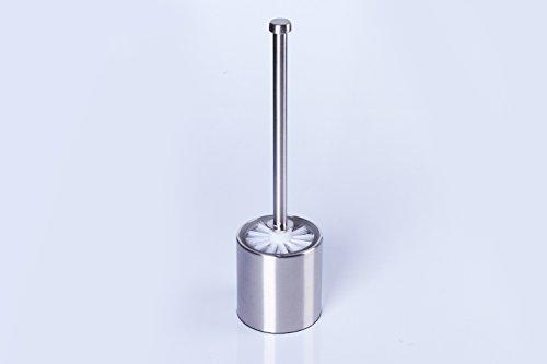 WC-Garnitur Toilettenbürste Edelstahl mit Glaseinsatz 36 cm inkl. Ersatzbürste