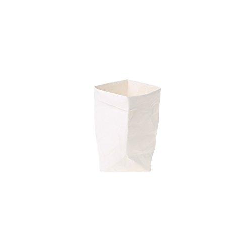 Sac en papier Kraft Shizuhatagayama lavable Multi Fonctions pour plantes et fleurs à pain de stockage de cadeau de fête de mariage, Papier Kraft, blanc, 15 cm