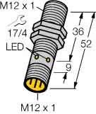 Turck Näherungsschalter Bi4-M12-AP6X-H1141 M12,pnp,sn:4mm,IP67 Induktiver Näherungsschalter 4047101098587