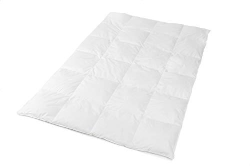 Platan Room Daunendecke Bettdecke 135x200 cm medium, kein Lebendrupf, allergikergeeignet, mittelwarme Ganzjahresdecke, gefüllt mit 800 g (135x200) Oeko-Tex