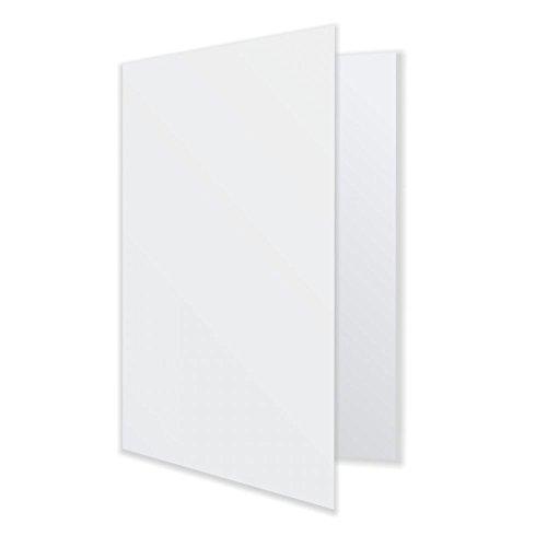 25 x Klappkarte Doppelkarte Falzkarte mit Falzkante - Premium Qualität - hochweiß - 240gr Karton bedruckbar beschreibbar beidseitig (Bedruckbare Karton)
