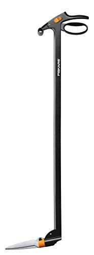 Fiskars Cisaille à gazon longue portée, Mécanisme anti-bourrage Servo-System, Longueur: 100 cm, Lames en acier/Poignée et manche en plastique renforcé de fibre de verre, Noir, GS46, 1000590