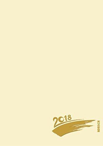 Preisvergleich Produktbild Foto-Malen-Basteln A4 chamois mit Folienprägung 2018: Kalender zum Selbstgestalten