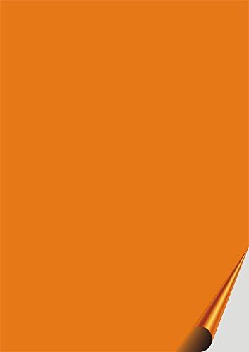 das-label DIN A4 selbstklebende Vinylfolie orange | OUTDOOR glänzend | zum Basteln Scrapbook | Vinylfolie zum Einlegen in Plotter | Sticker | Aufleber | geeigent auch für Autoaufkleber | Markierungspunkte