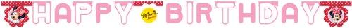 Happy Birthday Banner Minnie Maus 2,2 m (Minnie Happy Birthday Maus)