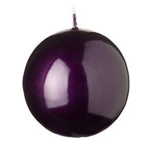 Bougie boule – Laqué – Lilas