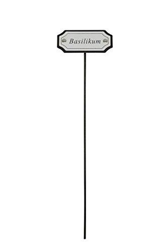 Blümelhuber Kräuterstecker Kräuterschilder aus Metall,17 Mod.erhältlich28cm Pflanzetiketten (Basilikum)