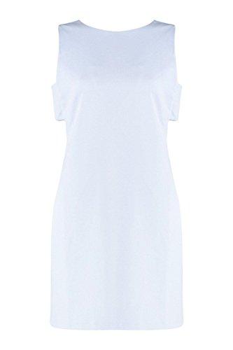 Bleu Femmes Aria Summer Knot Retour Sleevless Robe droite Bleu
