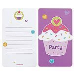amscan - 997217 - 6 Cartes d'Invitation et Enveloppes Cupcake
