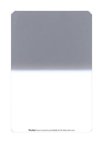 Rollei Rock Solid Hard GND 8 Foto Filter - extrem robuster Grauverlaufsfilter (100x150 mm) mit hartem Verlauf aus Gorilla Glas mit sehr hoher Farbtreue und Unbreakable Coating