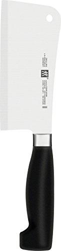 Zwilling 31095-151-0 Vier Sterne Hackmesser, Rostfreier Spezialstahl, Sonderschmelze, Kunststoff, 150 mm, schwarz