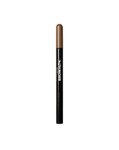 Maybelline Brow Satin Puder-Liner in Dark Brown, 2-in-1 Augenbrauenstift und Augenbrauenpuder, für volle und definierte Augenbrauen, mit natürlich mattem Puder-Finish, 1 g -