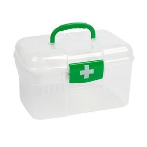 Glive Plastic First Aid Emergency Medical Kit Box, White
