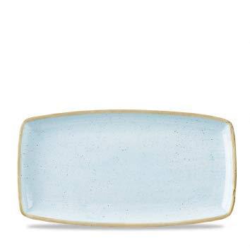 Churchill Stonecast -Oblong Plate Platte- 35x18,5cm, Farbe wählbar (Duck Egg Blue) Blue Plate