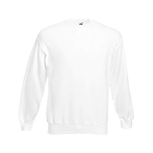 Fruit of the Loom Herren 62-202-0 Sweatshirt, weiß, Größe S -