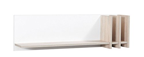 Küchenregal Hängeregal Küchen-Wandregal - 102 cm breit, Farbe: Sonoma Eiche / Weiß